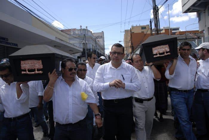 A file photo shows Manuel Baldizón.