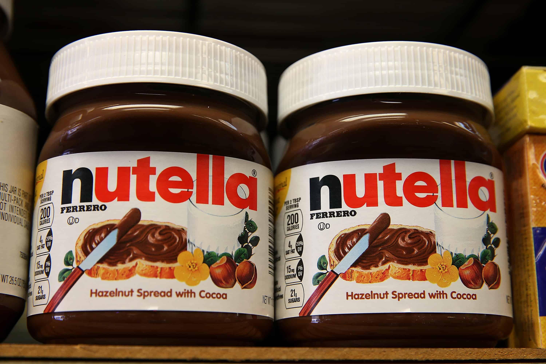 Jars of Nutella.