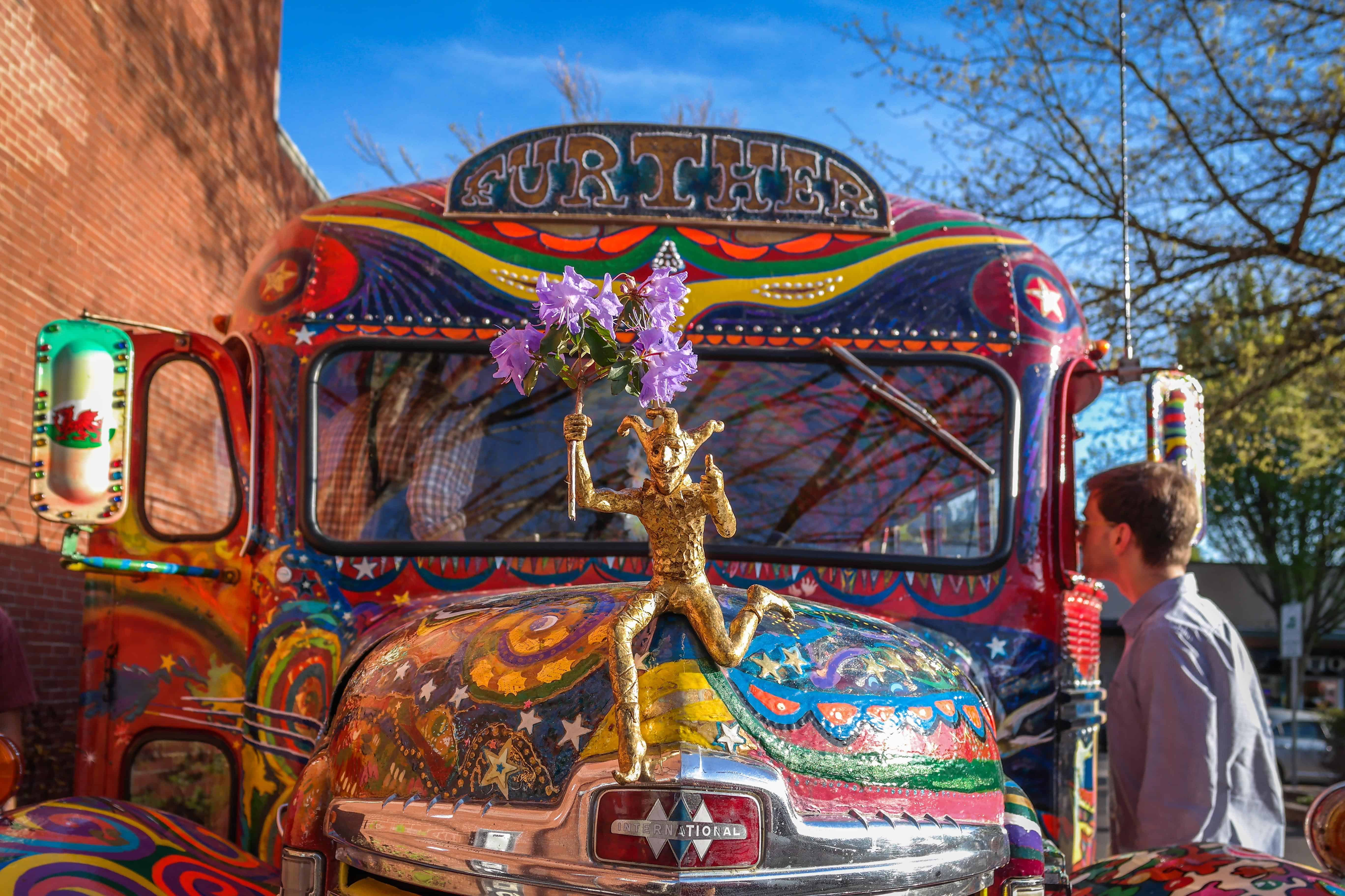 "The current incarnation of Ken Kesey's bus, ""Further."""