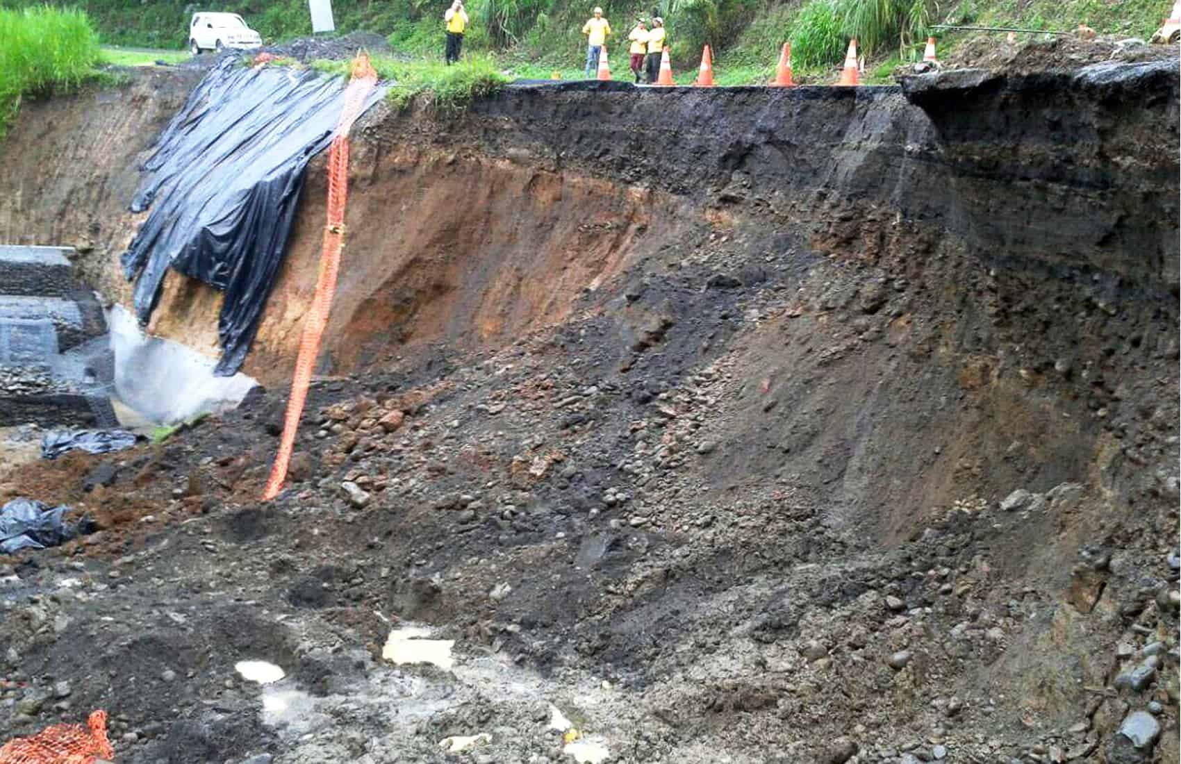 Landslide at Route 702, June 2015