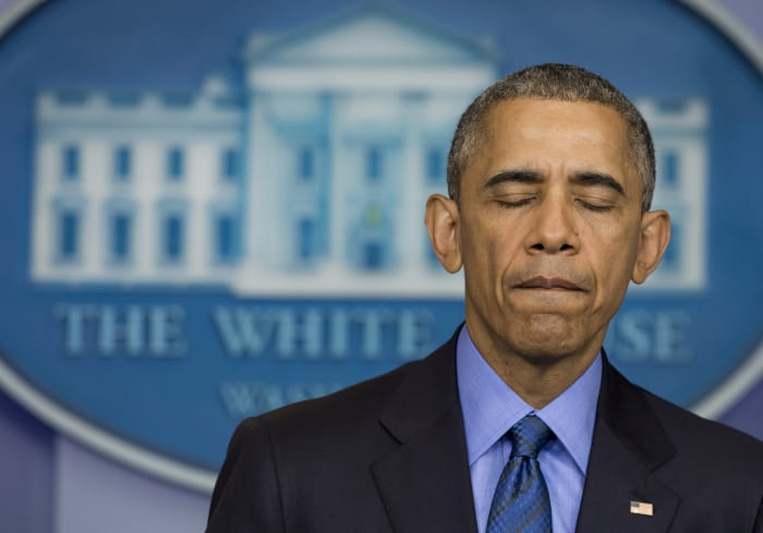 U.S. President Barack Obama speaks about the shooting.