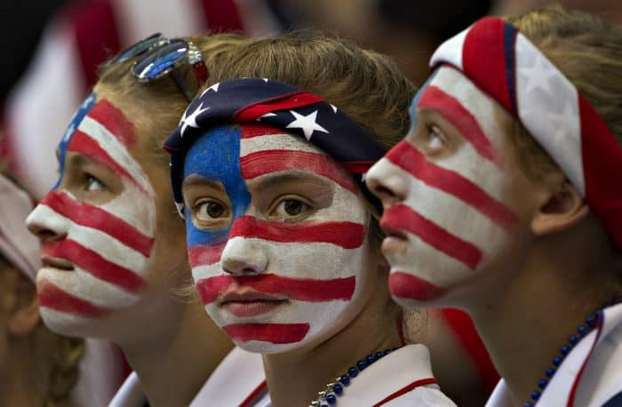 Young USA fans.