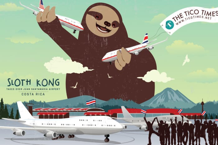 Sloth Kong takes over the airport.