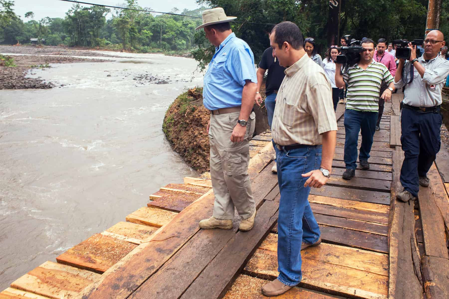 President Luis Guillermo Solís at Sarapiquí, June 2015.