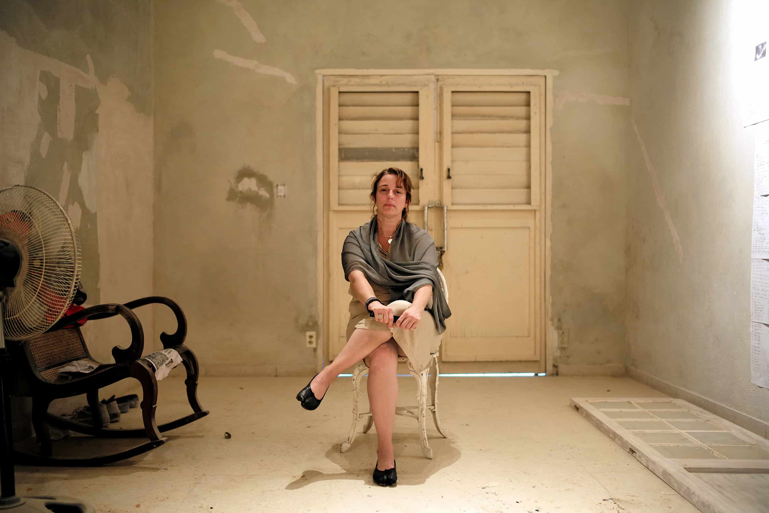 Tania Bruguera, a Cuban performance artist, poses in her home in Old Havana.