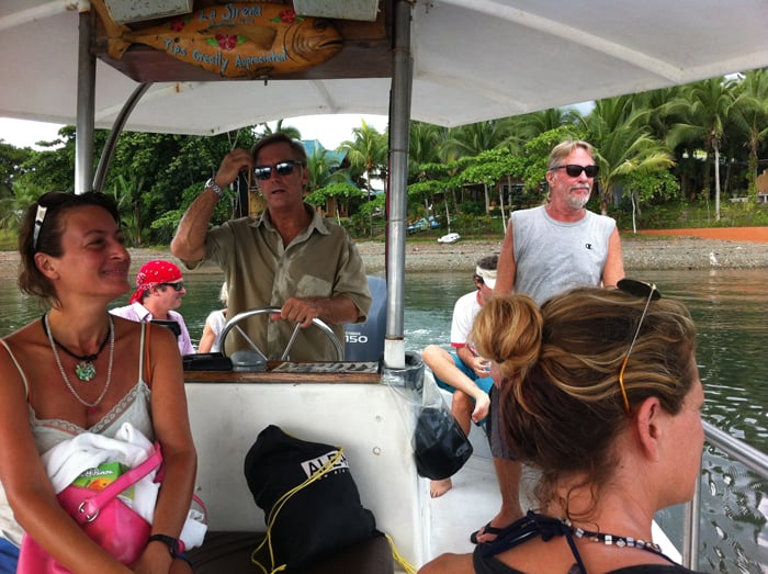 A motorboat Golfo Dulce tour departs Cabinas Jiménez in Puerto Jiménez on Saturday.