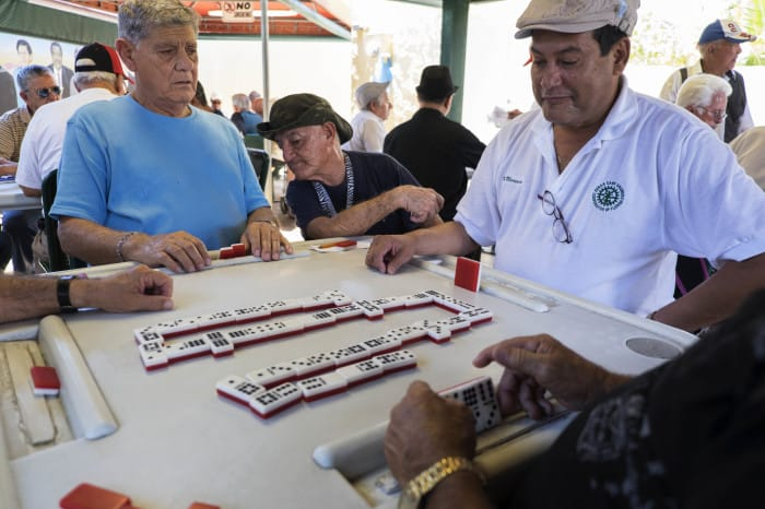 A favorite pastime in Little Havana, Miami.