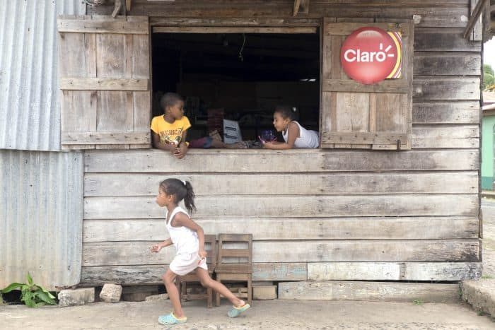 Children playing in Bluefields, Nicaragua.