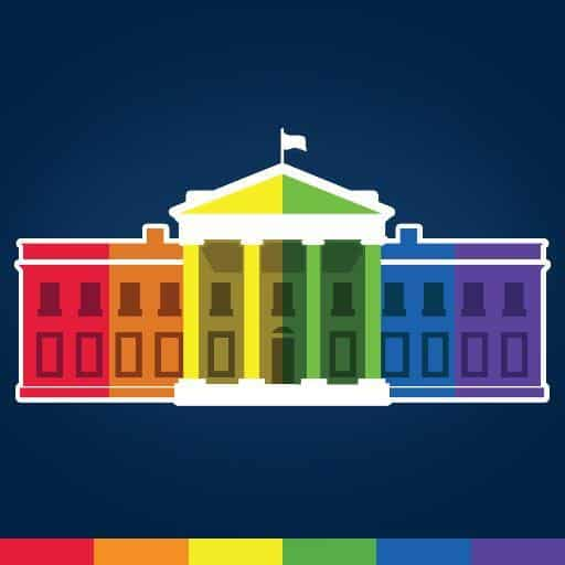 Rainbow White House.