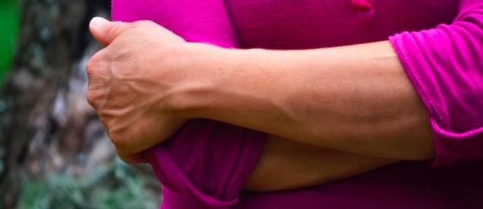 Elisabeth Mata Leiton's strong hands.