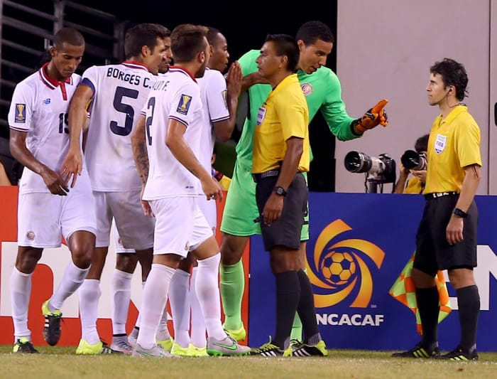 The Costa Rican Football Federation is set to send an official complaint to Concacaf's referee committee after a series of questionable penalties in the Gold Cup.