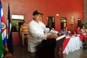 President Luis Guillermo Solís at La Cruz, Guanacaste
