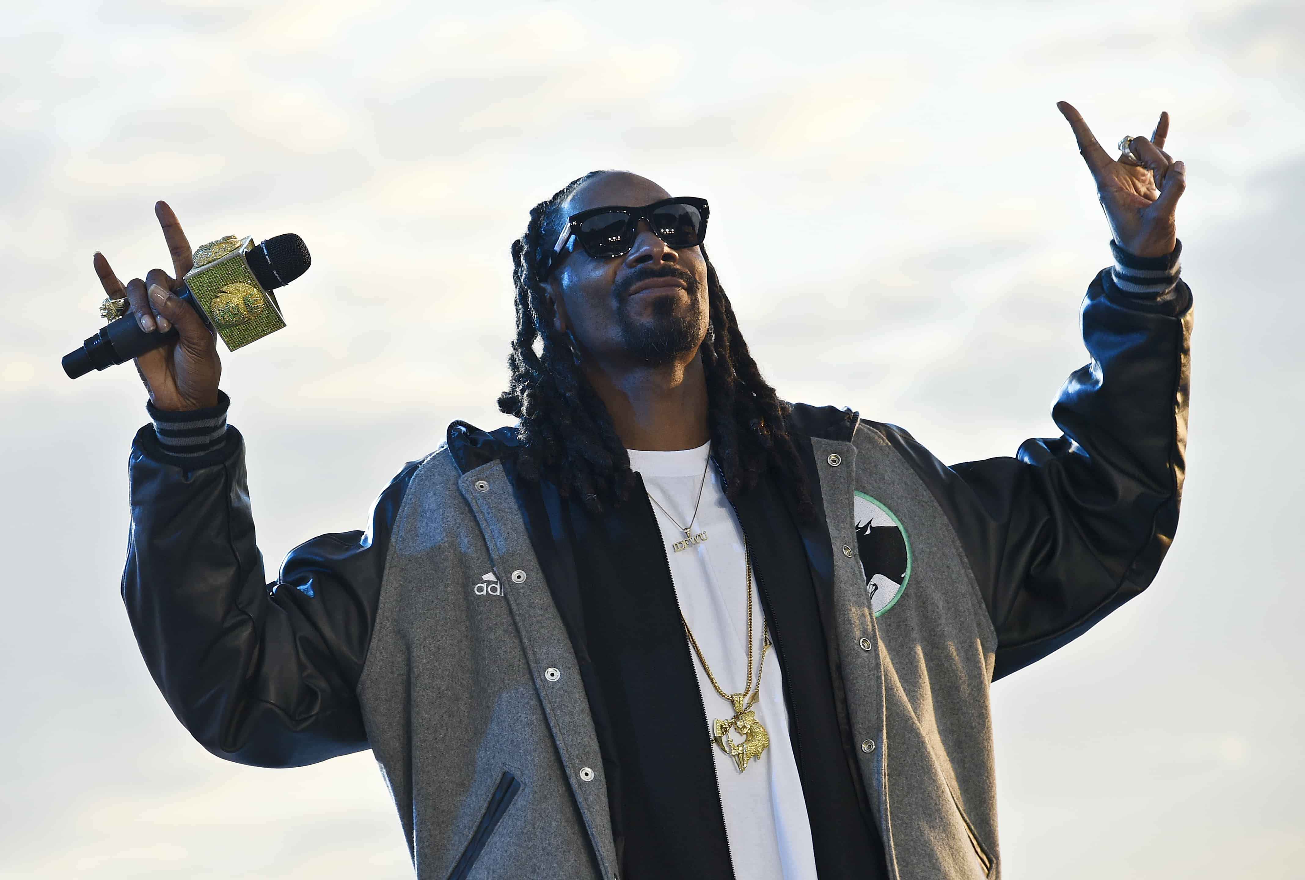 U.S. rapper Snoop Dogg performs.