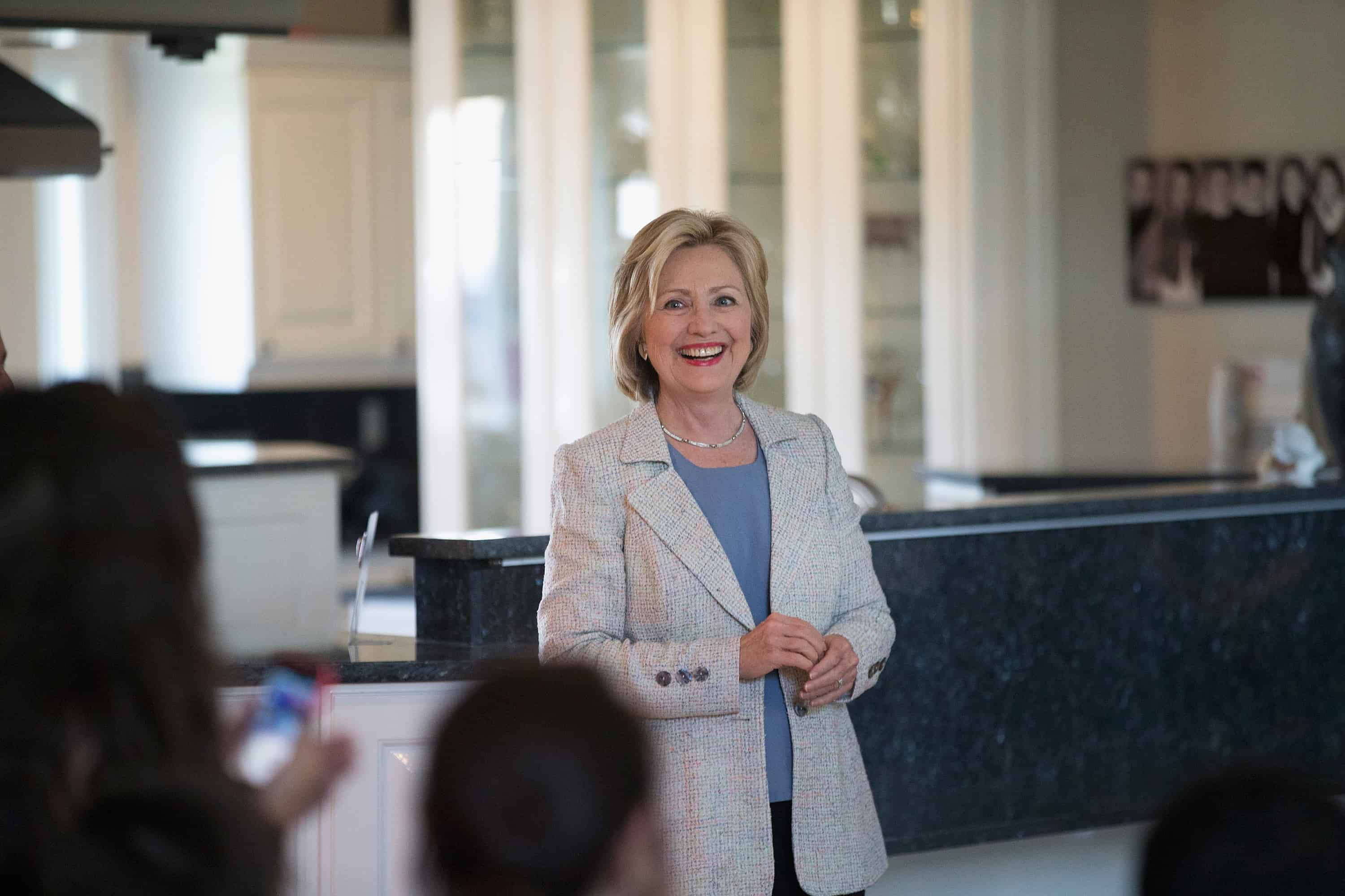Democratic presidential hopeful and former Secretary of State Hillary Clinton.