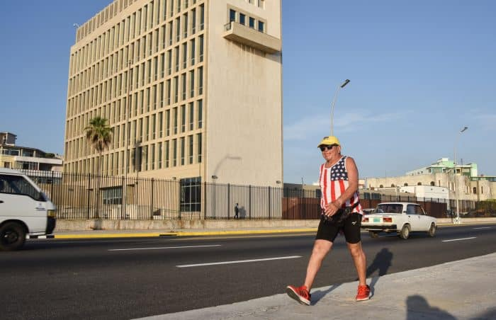 US traveler in Cuba.