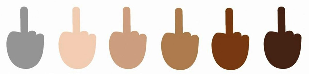 "Microsoft's new Windows 10 operating system includes support for the ""Reversed Hand with Middle Finger Extended"" emoji."