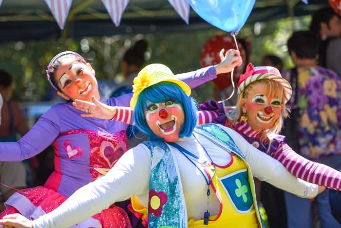 Clowns have long been part of the 4th of July picnic.