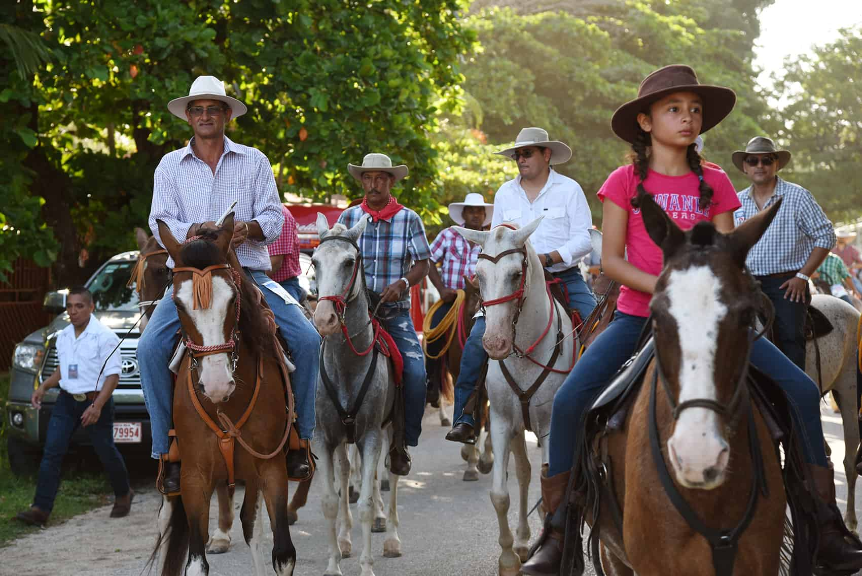 The traditional tope, or horse parade, started late on Saturday and eventually passed through the city of Nicoya.
