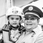 Ashley Barrantes and her aunt, firefighter Dora Hernández.