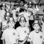 "Kids from the ""Obras del Espíritu Santo"" program participated in the celebration of the 150 anniversary of the Costa Rican Fire Department at the Plaza de la Cultura in San José, Sunday, July 26."