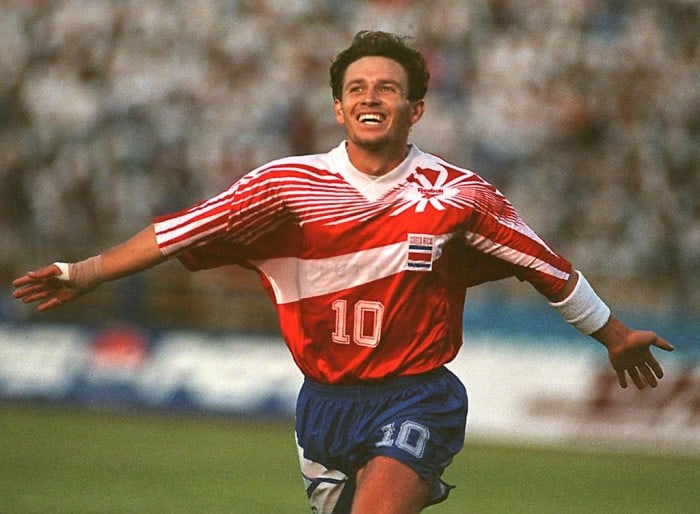 Rolando Fonseca, Costa Rica's all-time leading goal scorer, is the author of one of Costa Rica's most important goals.