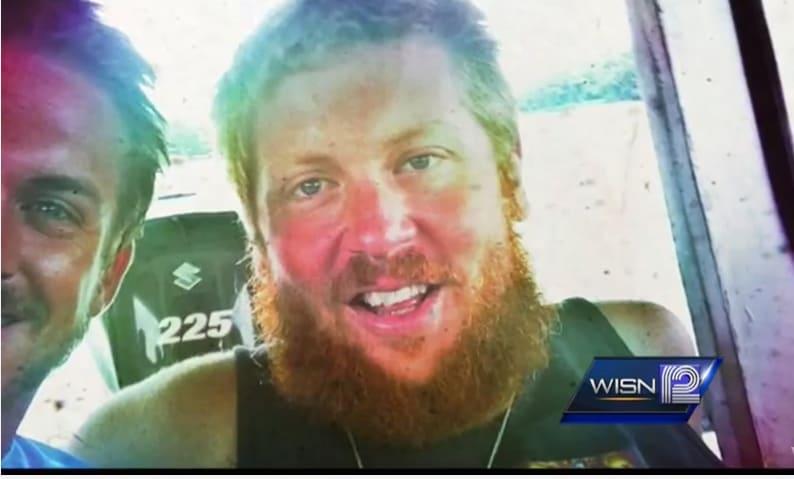 A screen shot from WISN 12's 2013 report on the death of Steve Flesch.
