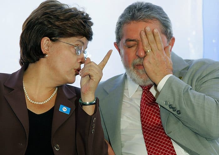 "Brazil's former President Luiz Inacio ""Lula"" da Silva, right, and current President Dilma Rousseff in 2005."