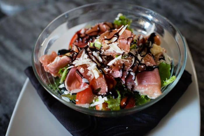 Italian salad with culinary goods from Finca Marta