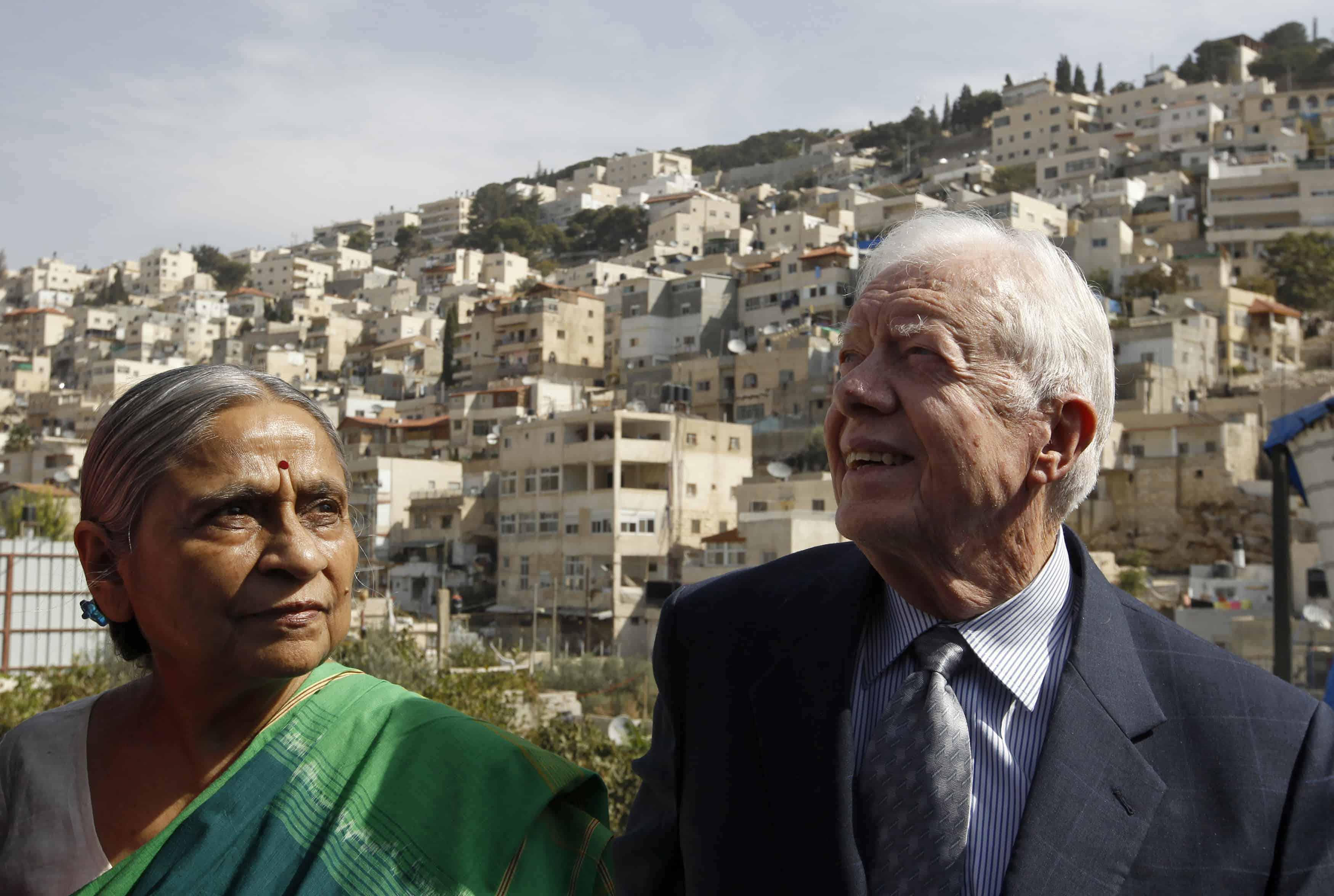 Jimmy Carter and Indian activist Ela Bhatt