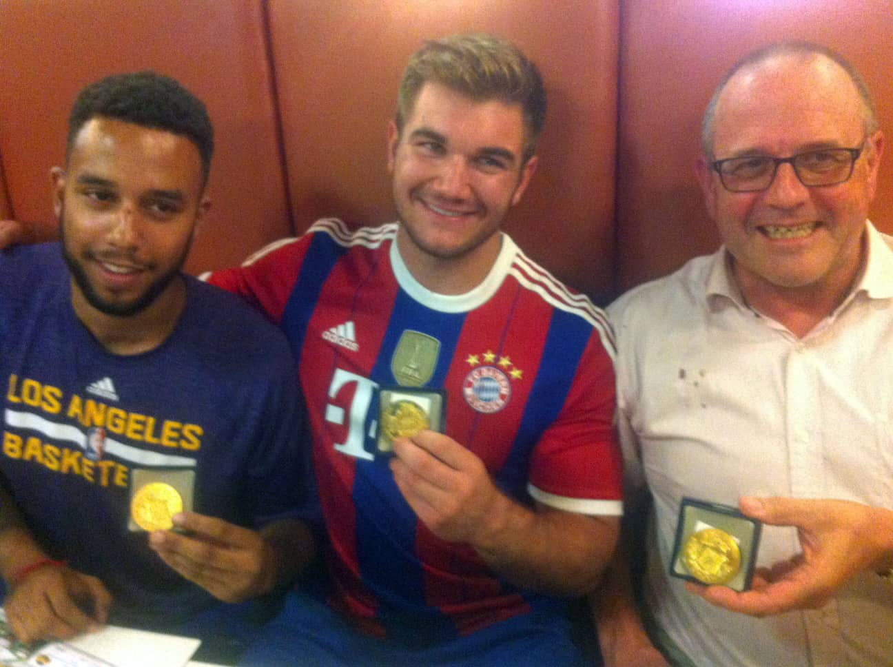 From left, Anthony Sadler, from Pittsburg, California, Alek Skarlatos from Roseburg, Oregon, and British national Chris Norman