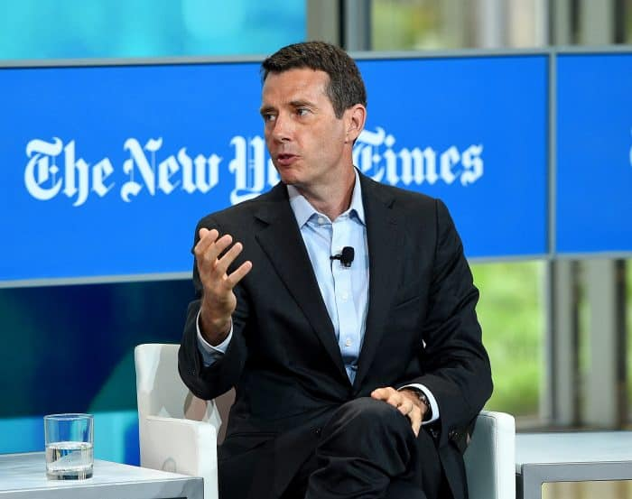Chief adviser for Uber David Plouffe speaks onstage during a NY Times Cities For Tomorrow Conference on July 21, 2015 in New York City.