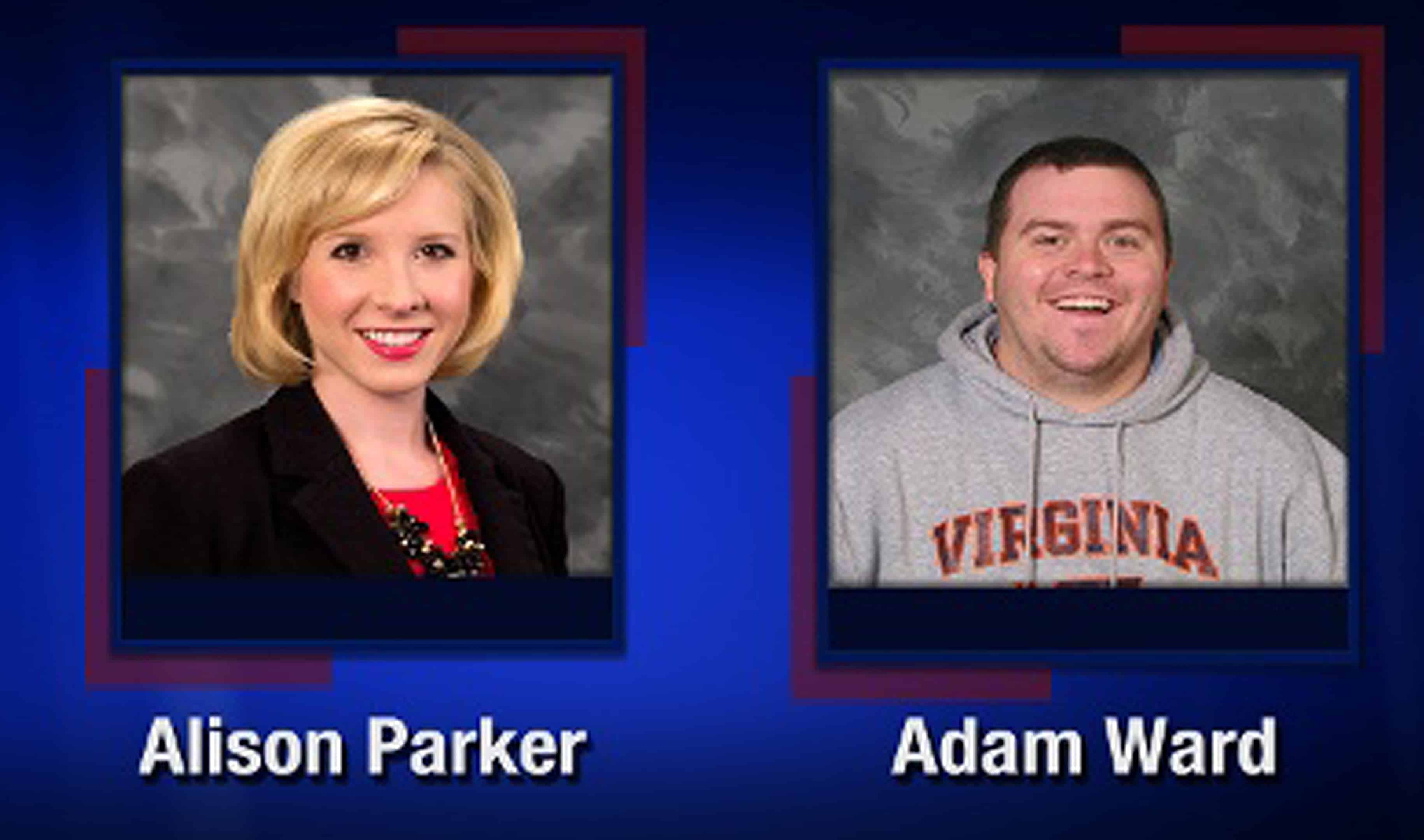 A TV frame grab courtesy of WDBJ7-TV in Roanoke, Virginia, shows two employees killed in an attack .
