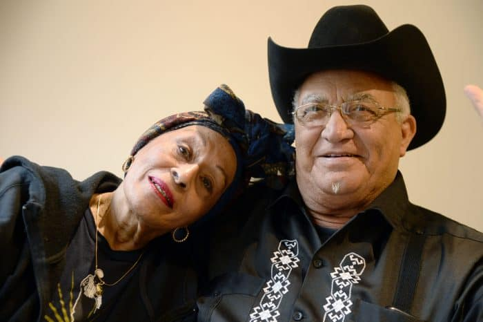 Cuban singer Omara Portuondo and guitarist Eliades Ochoa of Buena Vista Social Club.