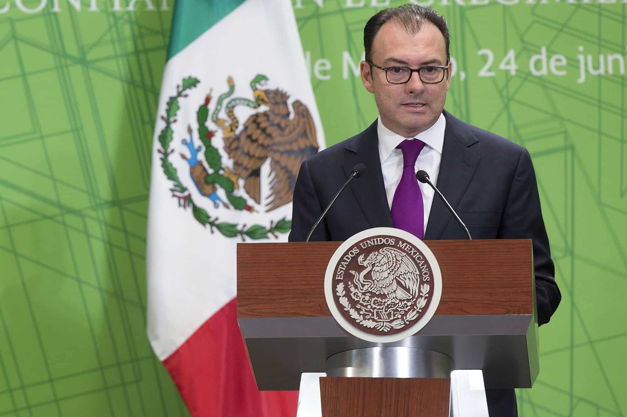 Mexican Finance Minister Luis Videgaray at the Real Estate Investment Conference in Mexico City, in June.
