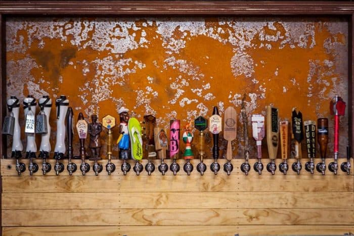 Beer taps at CASA.