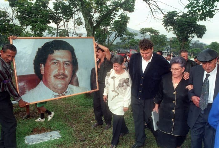 Hermilda de Escobar, second right, mother of Medellín drug cartel kingpin Pablo Escobar.