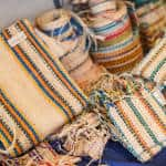 The final product: cabuya purses. Don Tina also makes hats, rope, baskets and other items.