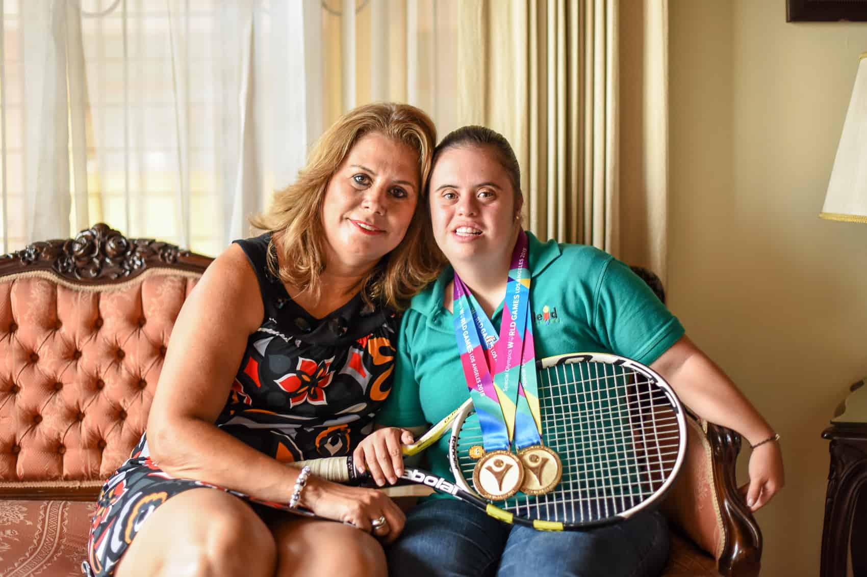 Jeannette Gamboa said she's unable to put into words how she felt when her daughter Catalina Cervantes won gold medals at the Special Olympics in Los Angeles two weeks ago, August 13, 2015.