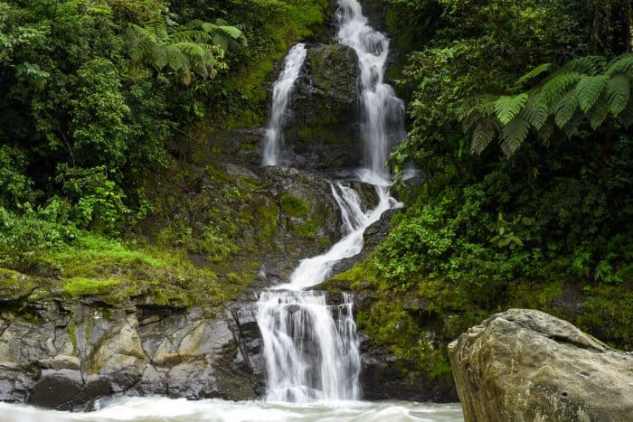 One of many waterfalls spilling into the Pacuare.