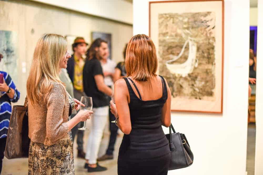 Visitors flocked to Artflow for the exhibit's inauguration on Wednesday, August 19.