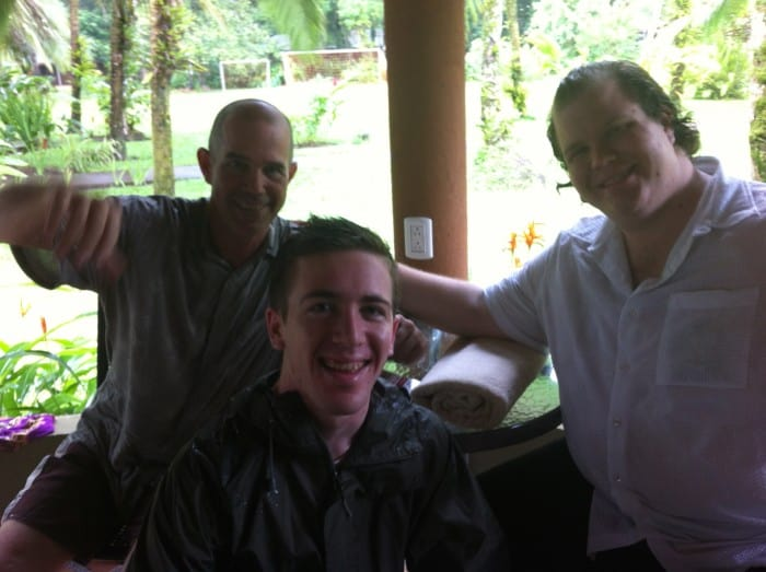 Karl, Nathan and Jordan in Tortuguero.