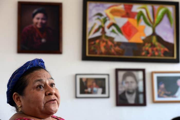 Guatemalan Nobel Peace Prize laureate Rigoberta Menchú.