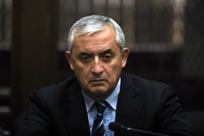 Guatemalan ex-President Otto Pérez Molina appeared nervous and tired during a corruption hearing in Guatemala City, on Sept. 8, 2015.