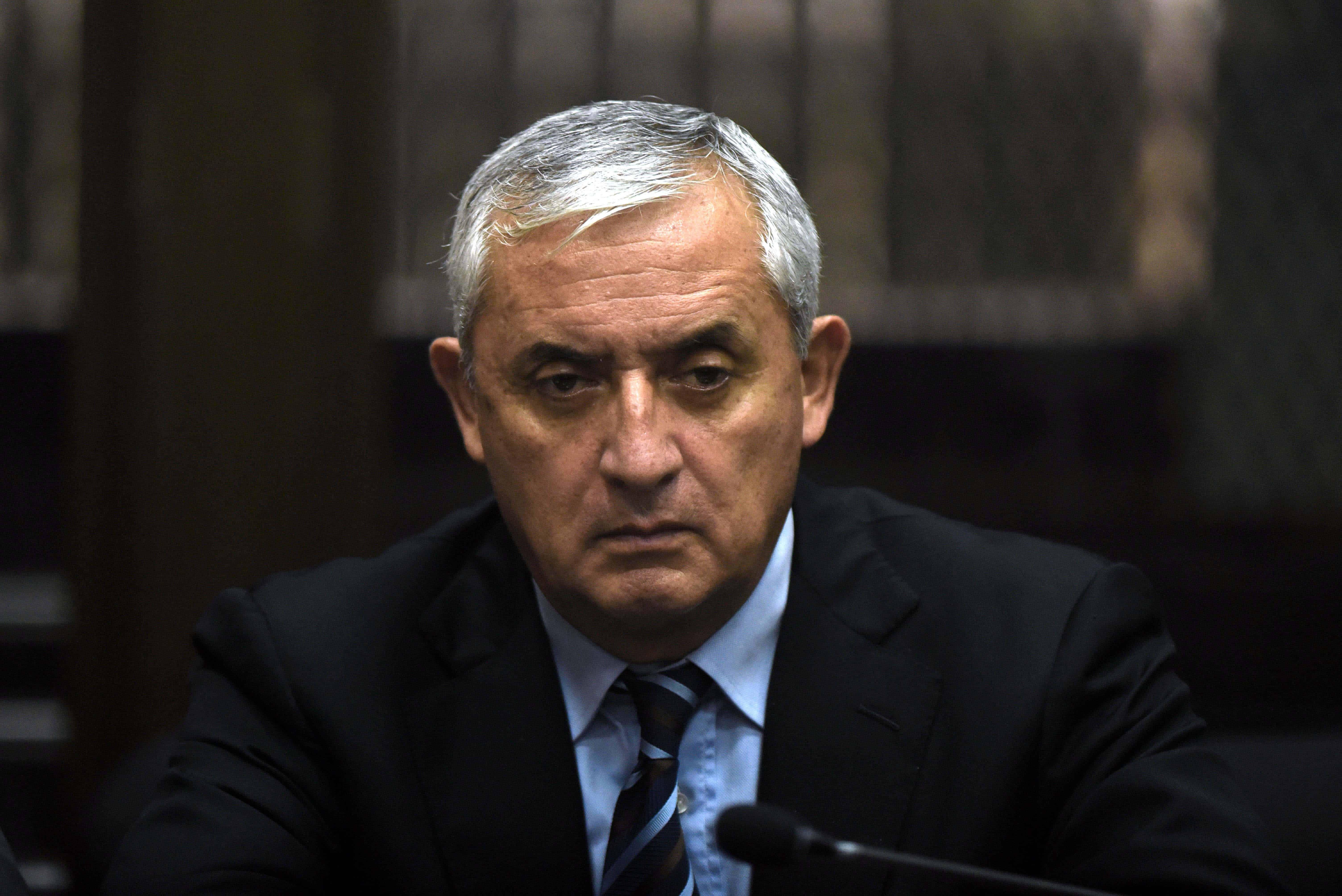 Guatemalan ex-President Otto Pérez Molina.