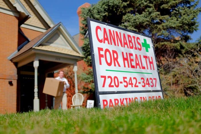 Cannabis For Health sign