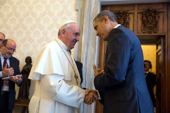 Obama says farewell to Pope Francis after meeting