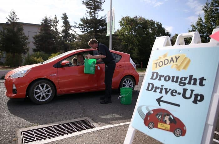A California Drought Drive-Up.