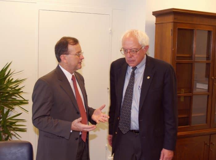 Ottón Solís and Bernie Sanders.