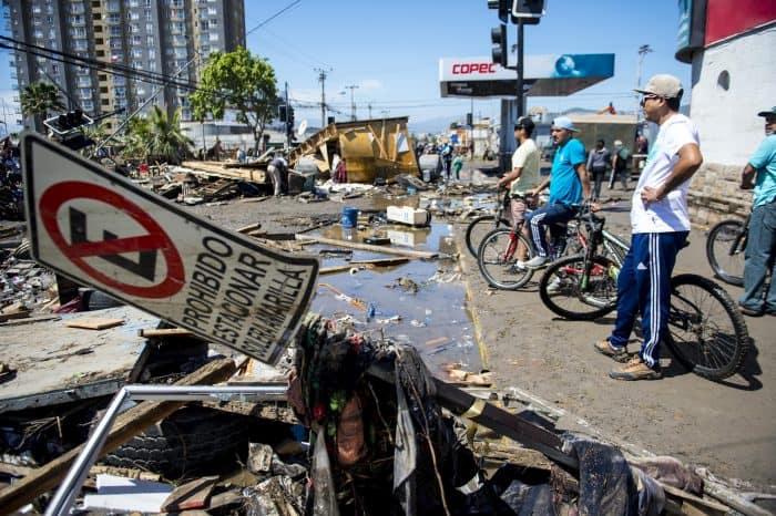 Chile earthquake damage.