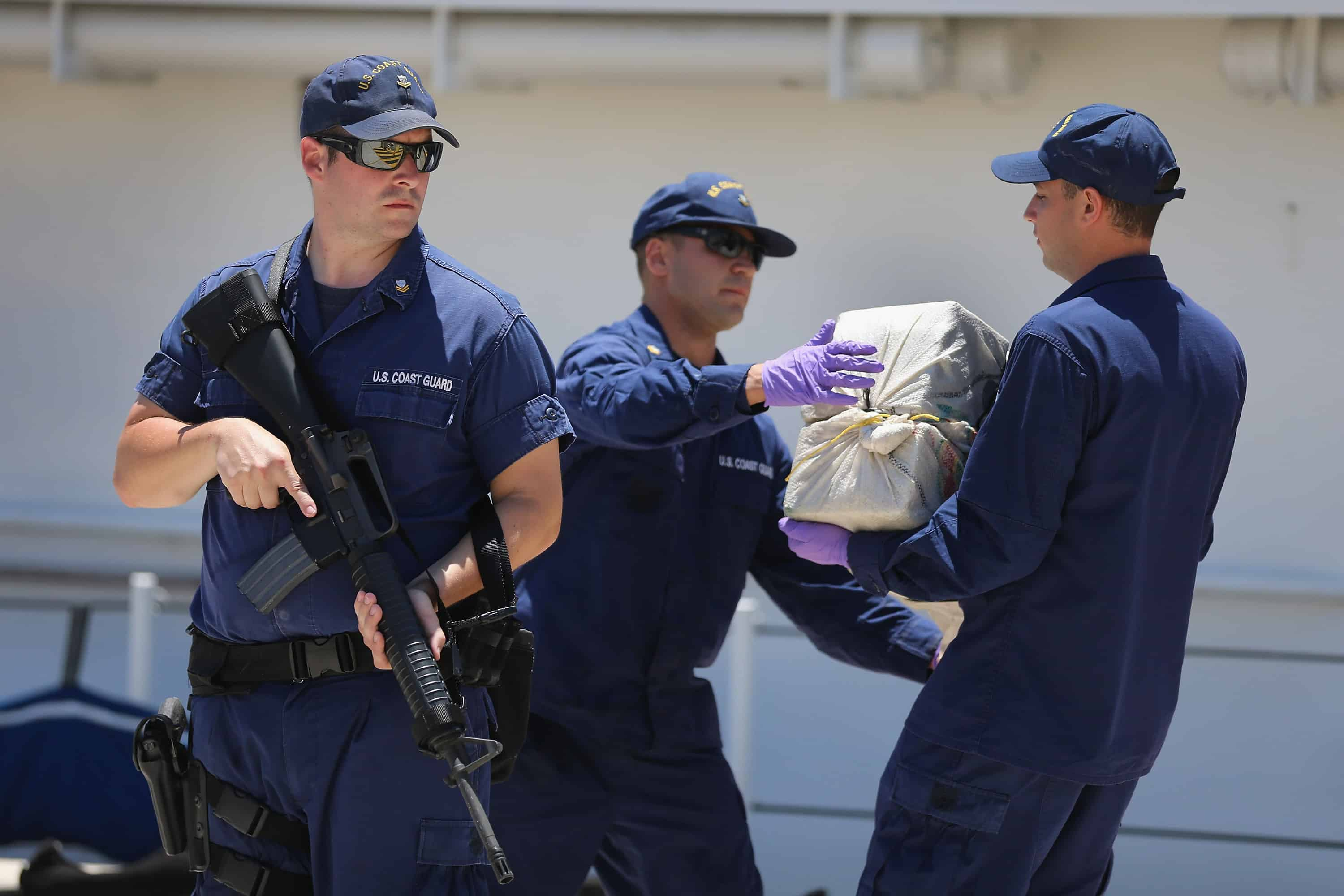 US Coast Guard and drug trafficking bust.